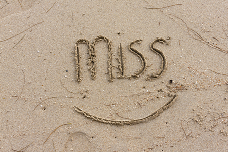 Miss you on the sand photo