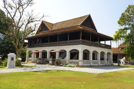 center hall colonial: Lanna Architecture Center in Thailand Stock Photo