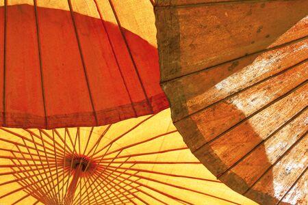 selective: Umbrella structure selective focus Stock Photo