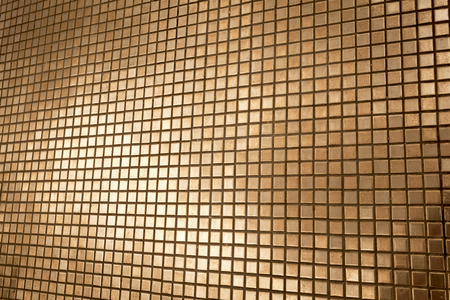 mosaic background: Golden mosaic wall background