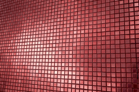 mosaic wall: Red tone mosaic wall background Stock Photo