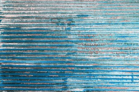 blue tone: Retro blue tone old rusty metal wall
