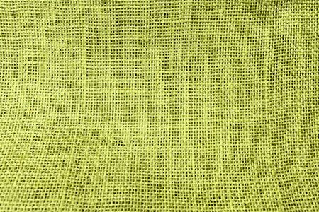 green tone: Hessian texture background green tone Stock Photo