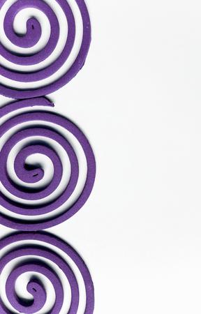 anti season: Lavender mosquito repellent coils design background