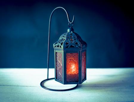 Vintage tone style metal lantern horizontal