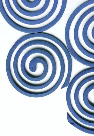 anti season: Blue Mosquito repellent coils design background