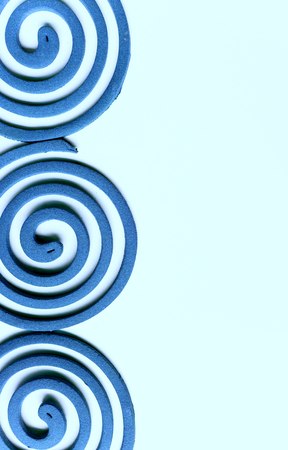 blue spiral: Blue spiral on blue background Stock Photo
