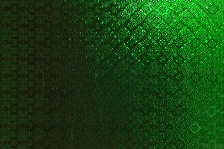 window shade: Green glass wall design background