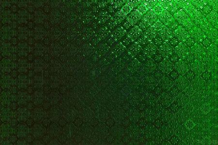 window shade: Green glass wall design background