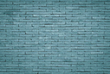 blue tone: Vintage blue tone brick wall background
