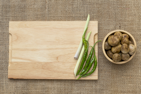 barometer: Barometer Earthstars Mushroom with lemongrass and green chilli with space on wooden cutting board