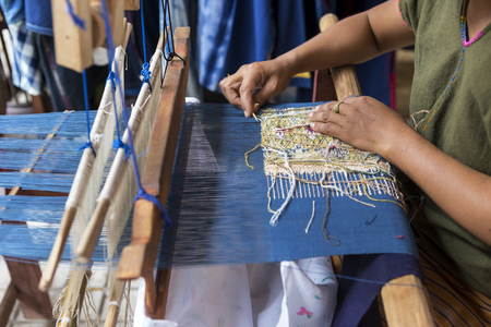 handloom: Thai style weaving, traditional Thai sarong from northern Thailand