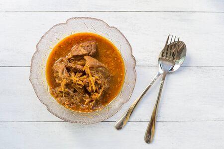 hung: Kaeng Hung Ley Moo, Thai style pork curry