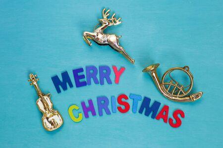 Christmas sign music concept Stock Photo