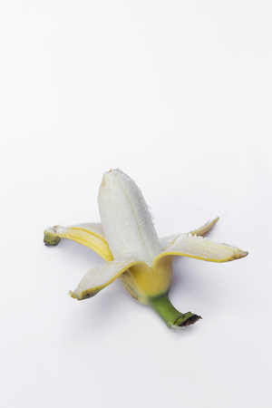 Cultivated banana on white background Stock Photo