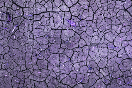 Abstract crack texture background, vintage purple filter