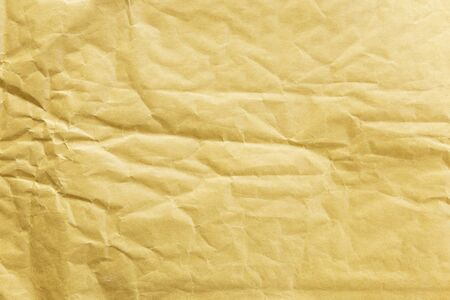 Abstract wrinkle yellow paper texture background, blank paper patern background