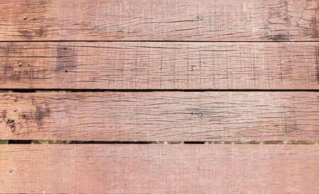 Old wooden floor background, Blank red wooden wall texture background, outdoor day light