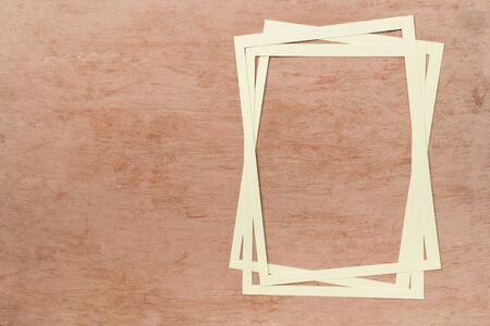 White paper frame on vintage orange texture background, blank orange pattern background
