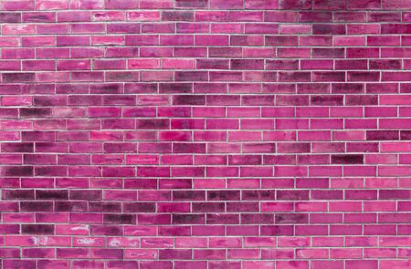 Abstract pink brick wall texture background, Blank pink brick wall pattern background