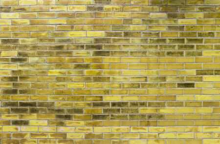 Abstract yellow brick wall texture background, design yellow brick wall pattern background, blank wall