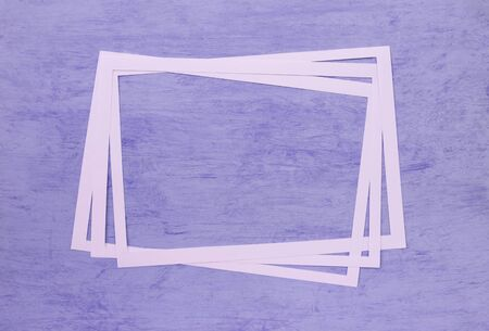 Abstract purple background with white paper frame, blank purple background with paper frame