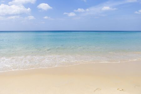 Blue sea and clean beach in Southern Thailand, summer and vacation holiday destination, summer outdoor day light 版權商用圖片