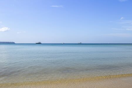 Beautfiul peacful beach in Southern Thailand, summer outdoor day light, holiday and vacation destination