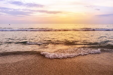 Beautiful sunset in Southern Thailand beach, relaxing time, nature concept, holiday and vacation destination