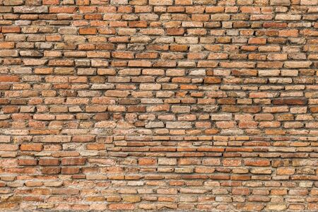 Old brick wall pattern background, ancient wall, red brick wall texture background