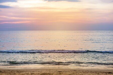 Sunset at the beach, nature concept background, summer break Stok Fotoğraf