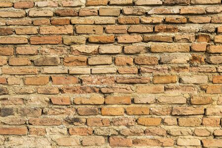 Old brick wall background, wall pattern, outdoor day light