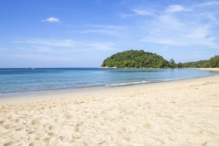 Paradise island in south of Thailand, summer and vacation destination, tourist attraction, clean beach with clear blue sky