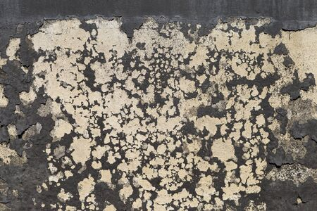 Black dirt on old cement wall, abstract texture background, outdoor day light