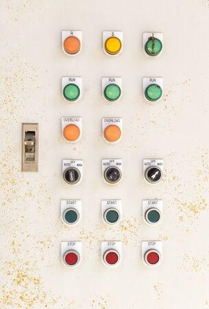 Old electronic control box, technology and power Reklamní fotografie