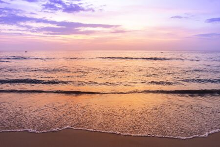 Beautiful peaceful sunset at the beach, paradise island in south of Thailand, evening outdoor day light Reklamní fotografie