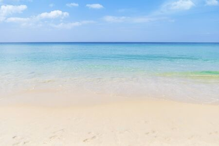 Clear sea water on clean beach, tropical island, summer outdoor day light