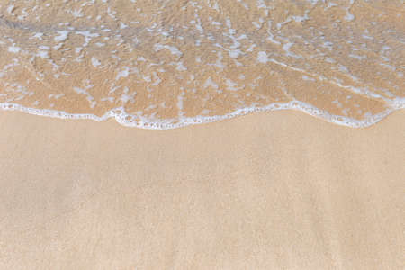 Clear sea water on fine sand beach, nature concept background, outdoor day light, environmental background