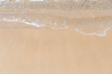 Empty fine sand beach, nature and environment background, outdoor day light