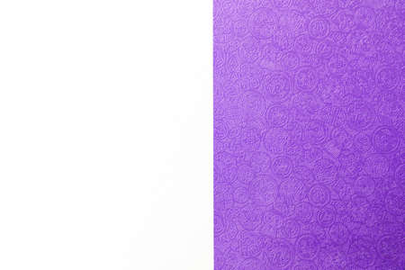 Purple paper with Chinese pattern on white paper background, card and presentation background template Stok Fotoğraf