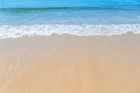 Beach background, summer outdoor day light, empty beach with clean sea water, nature concept background Stok Fotoğraf - 155302907