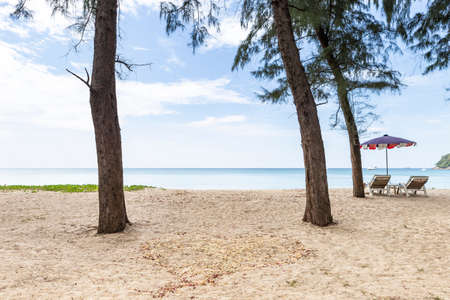 Relaxing by the peaceful beach in South of Thailand, paradise island, clean environmental, summer holiday destination Stok Fotoğraf - 155340959