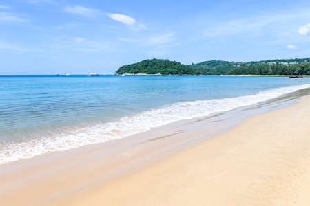 Relaxing and peaceful beach in south of Thailand, holiday and vacation destination to Asia, summer outdoor day light, Thailand tourist attraction Stok Fotoğraf - 155443945
