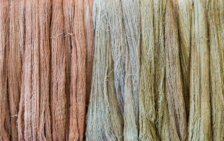 Natural color dye raw cotton background, fabric material