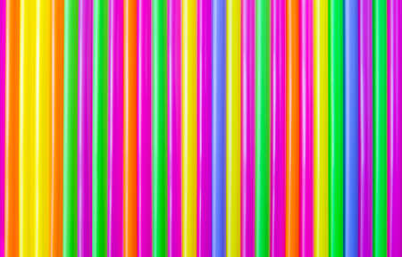 Colorful plastic straw background, abstract color background