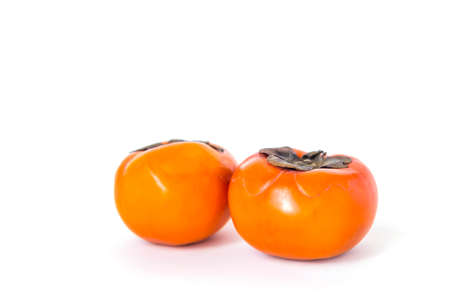 Fresh Persimmon fruit isolate on white background