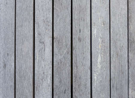Old wood background, blank grey wooden floor background, outdoor day light