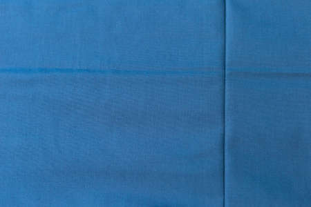 Blue fabric texture background, Blank blue background