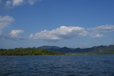 river   mountain in sangklaburi, thailand photo