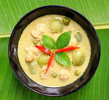 Green pork Curry photo